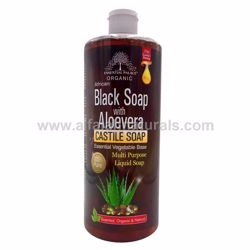 Picture of Organic Castile Soap with Black Soap  & Aloe Vera - 13.5 Oz - By Essential Palace