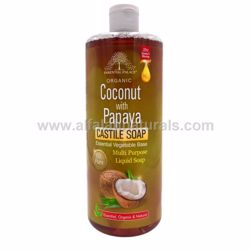 Picture of Organic Castile Soap with Coconut & Papaya - 13.5 Oz - By Essential Palace