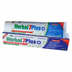 Picture of 1 Piece - Herbal 7Plus Toothpaste w/ Xylitol 7 in 1 [Fluoride Free][6.5 oz]