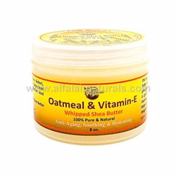Picture of Oatmeal & Vitamin-E Whipped Shea Butter 8oz by Mine Botanicals