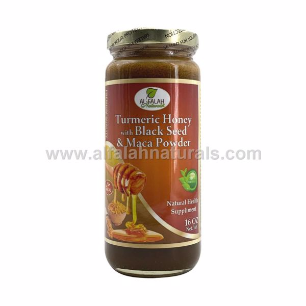 Picture of Termeric Honey with Black Seed & Maca Powder - 16 OZ
