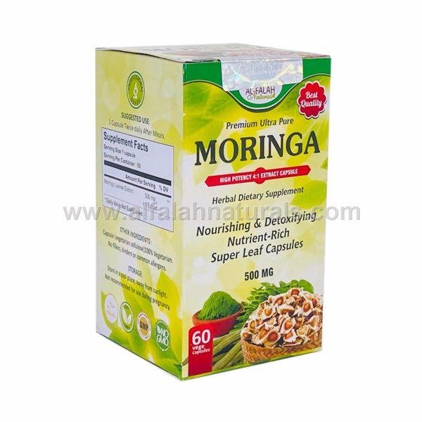 Picture of Moringa  4:1 Premium Extract Capsules - 500mg [60 Capsules] [Halal/Vegetarian]